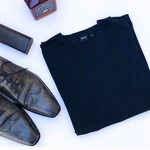 Boss Hugo Boss Black Classic 100% Cotton V-neck L
